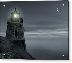 Moonlight At Castle Hill Acrylic Print by Lourry Legarde