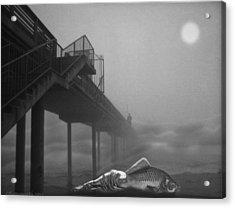 Moonlight Beach Acrylic Print by Larry Butterworth