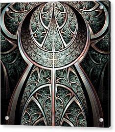 Moonlight Gates Acrylic Print by Anastasiya Malakhova