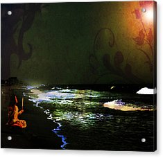 Moonlight Gives Girl Hope In The Darkness Acrylic Print