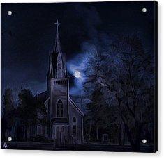 Moonlight Acrylic Print by Hazel Billingsley