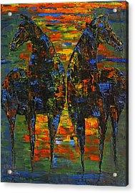Moonlight Horses Acrylic Print