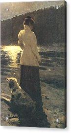 Moonlight Acrylic Print by Ilya Repin