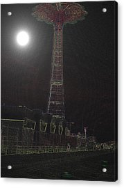 Moonlight Acrylic Print by King Mezidor