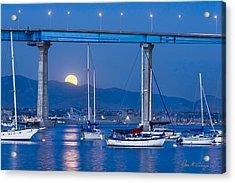 Moonlight Mooring Acrylic Print