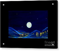 Moonlight. Winter Collection Acrylic Print