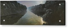 Moonlight On The Great Pee Dee Acrylic Print by Blue Sky