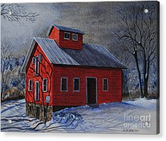 Moonlight On The Mill Acrylic Print