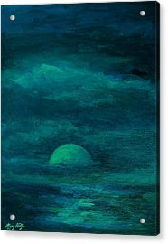 Moonlight On The Water Acrylic Print