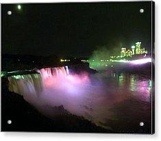 Moonlight Over A Luminous Niagara Falls N.y. Acrylic Print by Danielle  Parent