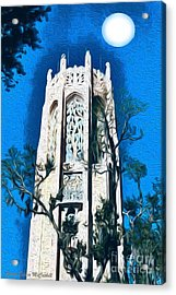 Bok Singing Tower Under The Moon Acrylic Print by Ecinja Art Works