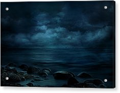 Moonlight Over Distant Shores Acrylic Print
