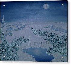 Moonlight Over Kitzbuehel Acrylic Print