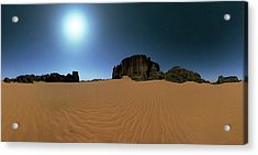 Moonlight Over The Sahara Desert Acrylic Print by Babak Tafreshi
