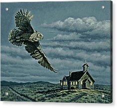 Moonlight Quest   Acrylic Print by Paul Krapf