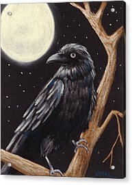 Moonlight Raven Acrylic Print