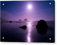 Moonlight Reflection Acrylic Print by Chad Dutson