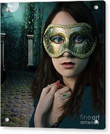 Moonlight Rendezvous Acrylic Print by Linda Lees