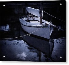 Moonlight Sail Acrylic Print by Amy Weiss