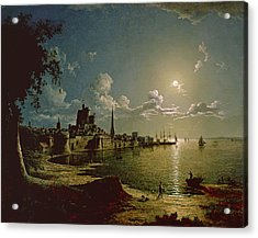 Moonlight Scene, Southampton, 1820 Acrylic Print by Sebastian Pether