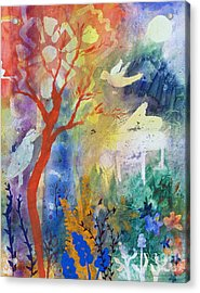 Moonlight Serenade Acrylic Print by Robin Maria Pedrero