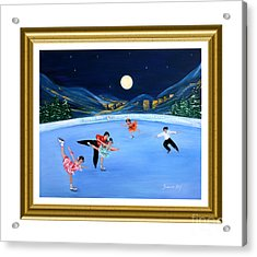 Moonlight Skating. Inspirations Collection. Card Acrylic Print