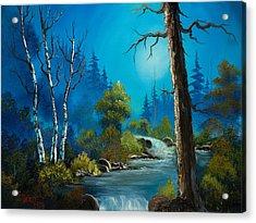 Moonlight Stream Acrylic Print by C Steele