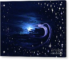 Moonlight Swim Acrylic Print by Jacquelyn Roberts