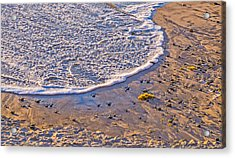 Moonlight Tide - California Beach Photograph Acrylic Print