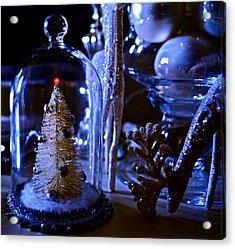 Moonlight Tree - Christmas Acrylic Print