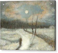 Moonlight Walk Home Acrylic Print