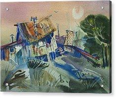 Moonlit Beach Shack Acrylic Print
