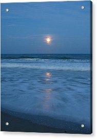 Moonlit Beach Too Acrylic Print by Peggy Burley