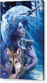 Moonlit Brethren  Acrylic Print by Andrew Farley