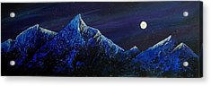 Moonlit Acrylic Print by Edith Peterson-Watson