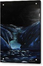 Moonlit Glacier Acrylic Print