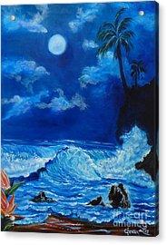 Moonlit Hawaiian Night Acrylic Print by Jenny Lee