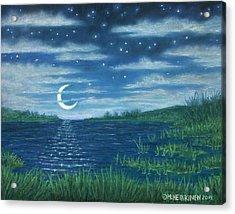 Moonlit Lagoon Acrylic Print