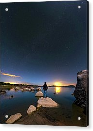 Moonlit Lake Alqueva Acrylic Print by Babak Tafreshi