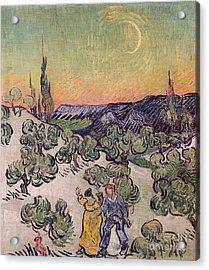 Moonlit Landscape Acrylic Print by Vincent Van Gogh