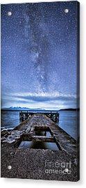 Moonlit Milky Way Acrylic Print