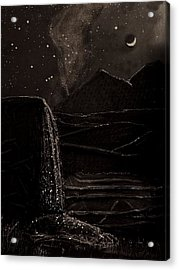 Moonlit Night Acrylic Print by Angela Stout
