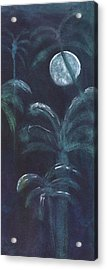 Moonlit Palms Acrylic Print by Mickey Krause