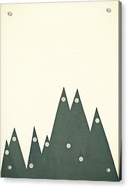 Moonlit Peaks Acrylic Print by Cassia Beck