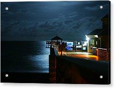 Moonlit Pier Acrylic Print