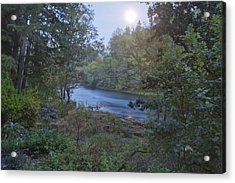 Moonlit River Acrylic Print by Belinda Greb