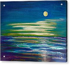 Acrylic Print featuring the painting Moonlit Tide by D Renee Wilson