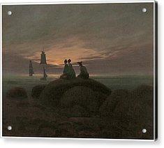 Moonrise At The Sea Acrylic Print by Caspar David Friedrich