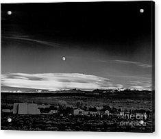 Moonrise Hernandez 1941 Acrylic Print by Ansel Adams