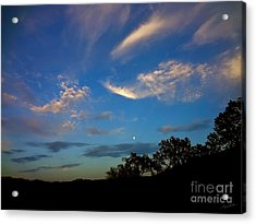 Moonrise Hill Acrylic Print by Gem S Visionary